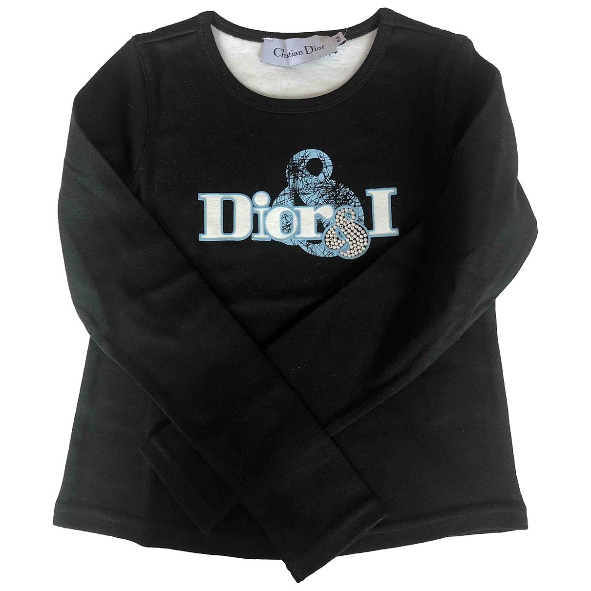 Dior - Top   pour enfant en coton - noir