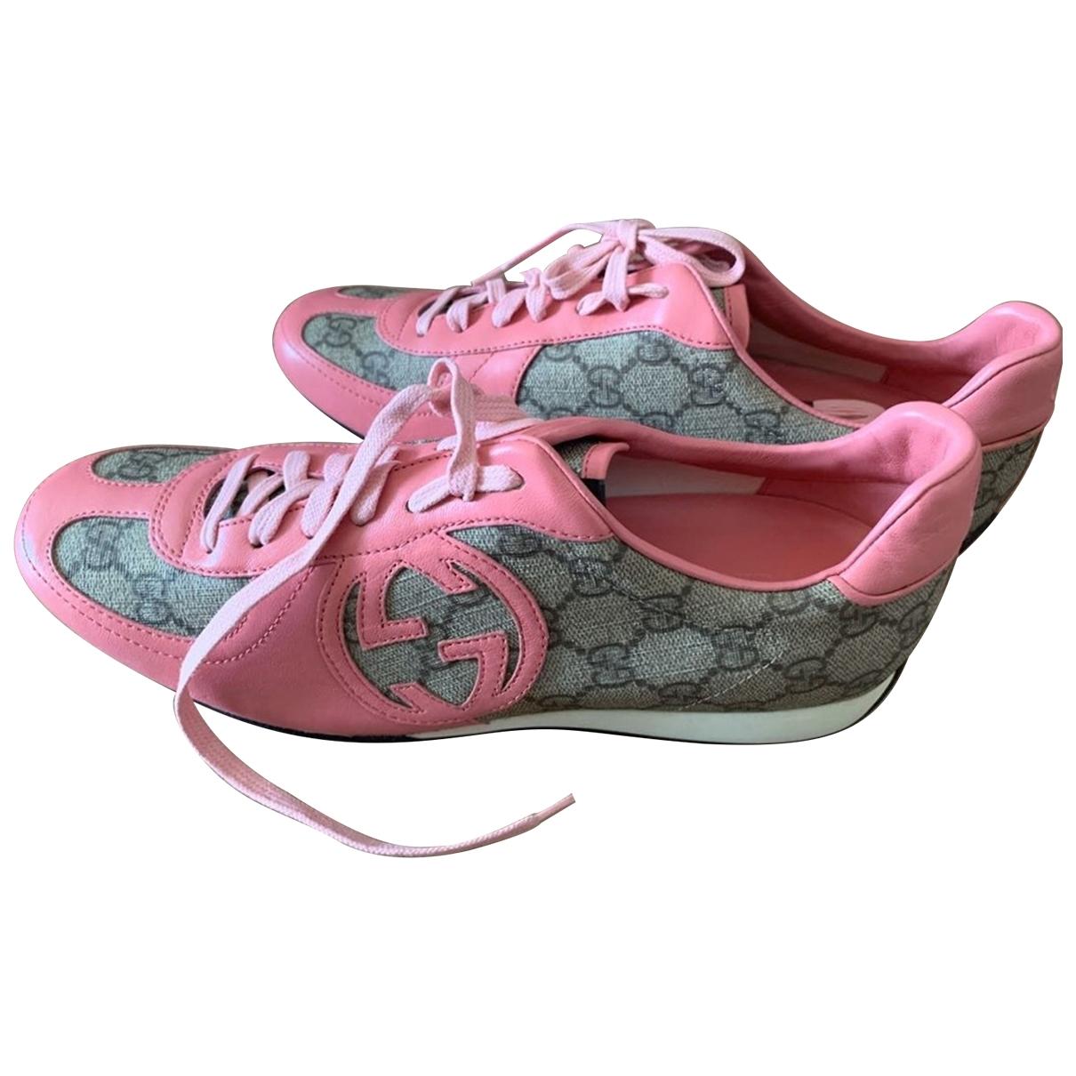 Gucci - Baskets   pour femme en toile - rose