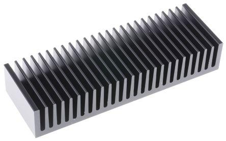 Fischer Elektronik Heatsink, Universal Rectangular Alu, 1.7K/W, 50 x 150 x 27mm, Black