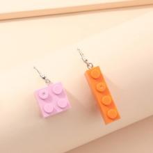 Geometric Charm Mismatched Drop Earrings