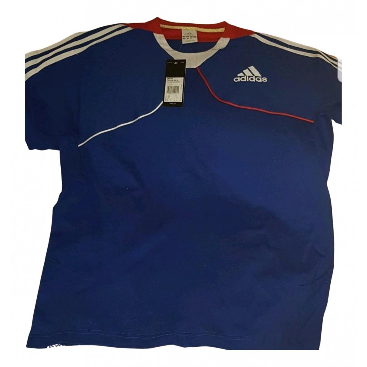 Adidas N Blue Cotton T-shirts for Men XL International
