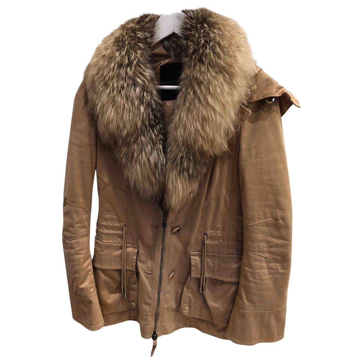 Ermanno Scervino - Manteau   pour femme en coton - camel