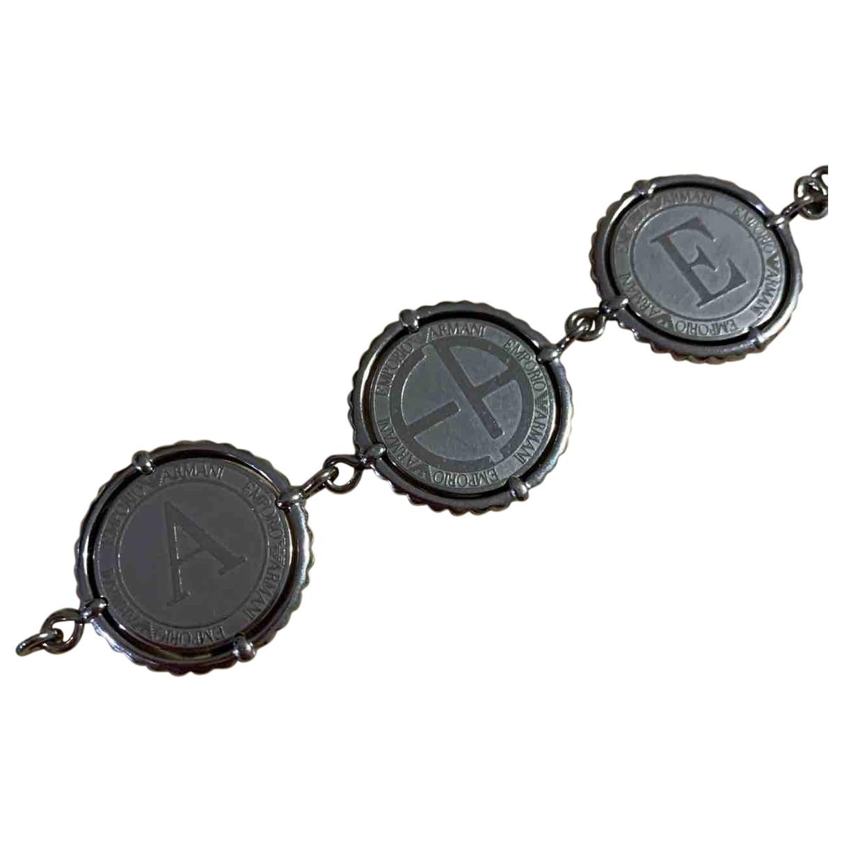 Emporio Armani - Bracelet   pour femme en acier - metallise