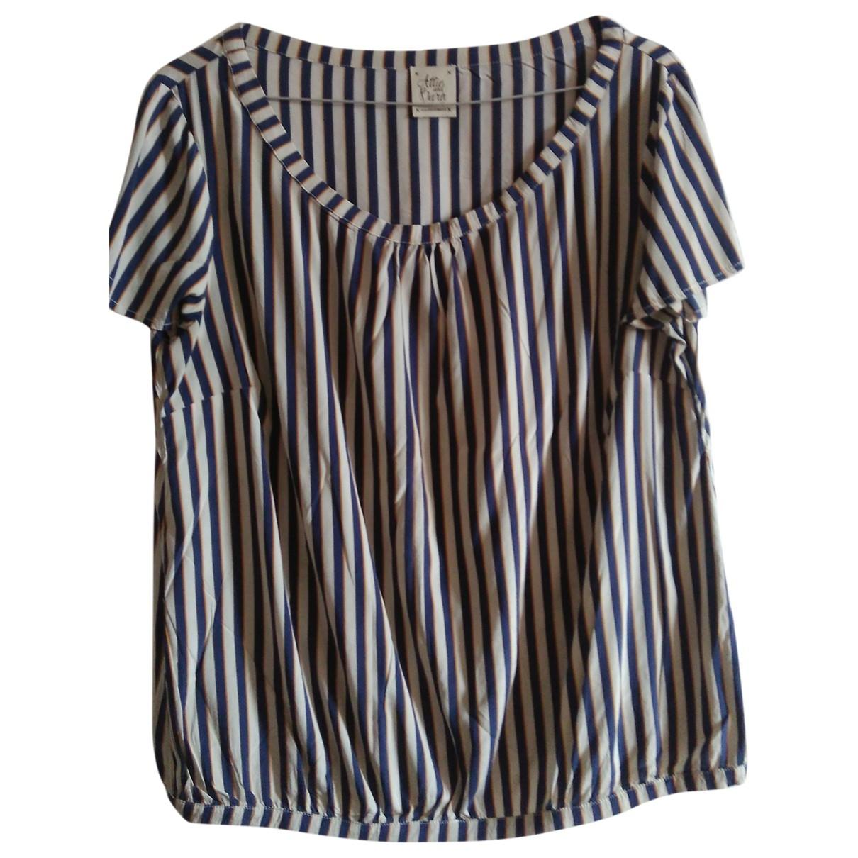 Attic And Barn - Top   pour femme en soie - multicolore