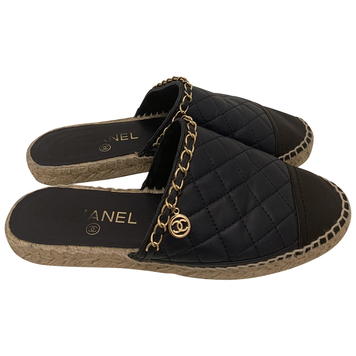 Chanel \N Blue Leather Espadrilles for Women 37 EU