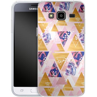 Samsung Galaxy J3 (2016) Silikon Handyhuelle - Blush GEO von Mukta Lata Barua