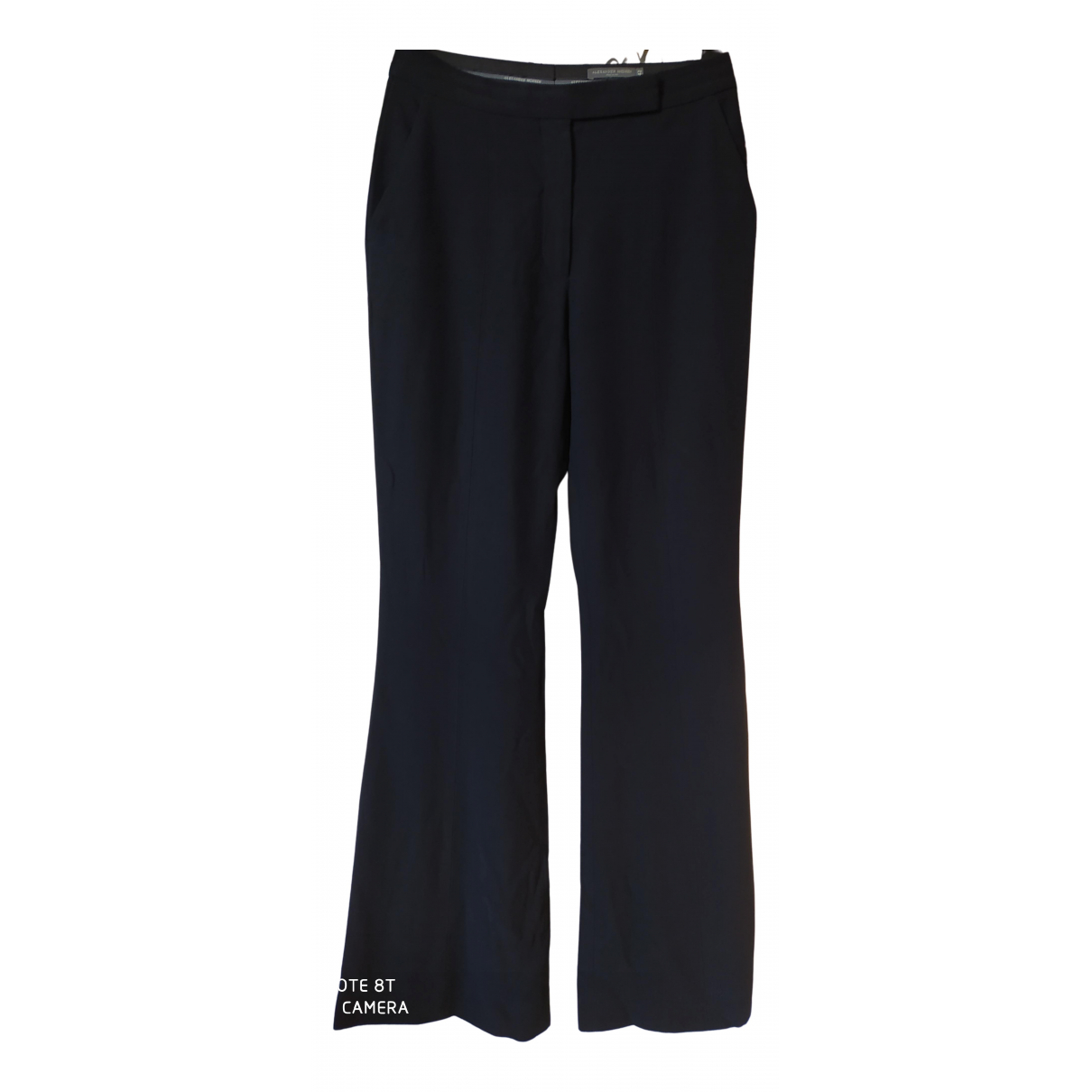 Alexander Mcqueen N Black Trousers for Women 42 IT