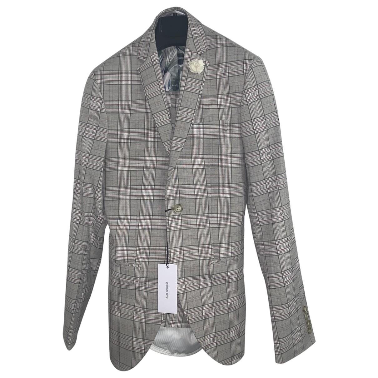 Non Signé / Unsigned \N Beige Cotton Suits for Men 42 FR