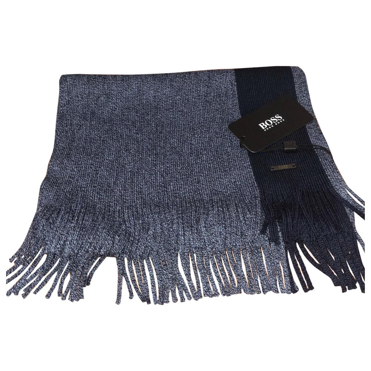 Hugo Boss - Cheches.Echarpes   pour homme en laine - bleu