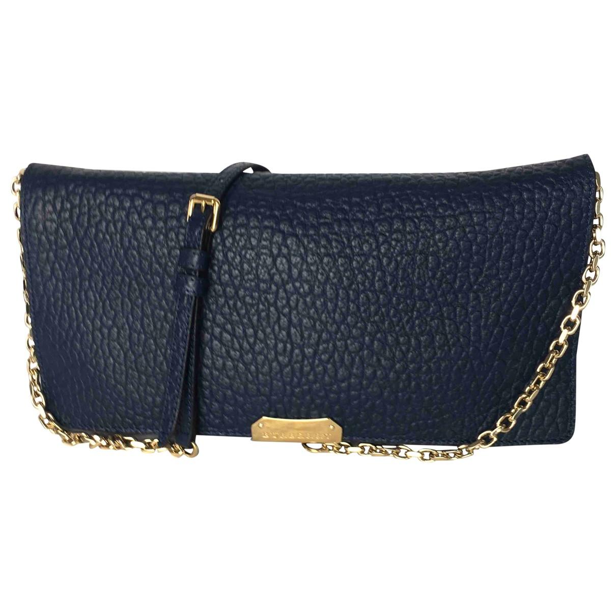 Burberry Woodbury Blue Leather handbag for Women \N