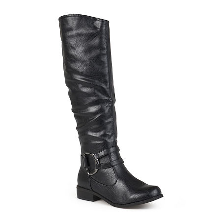 Journee Collection Womens Charming Knee-High Riding Boots, 6 Medium, Black