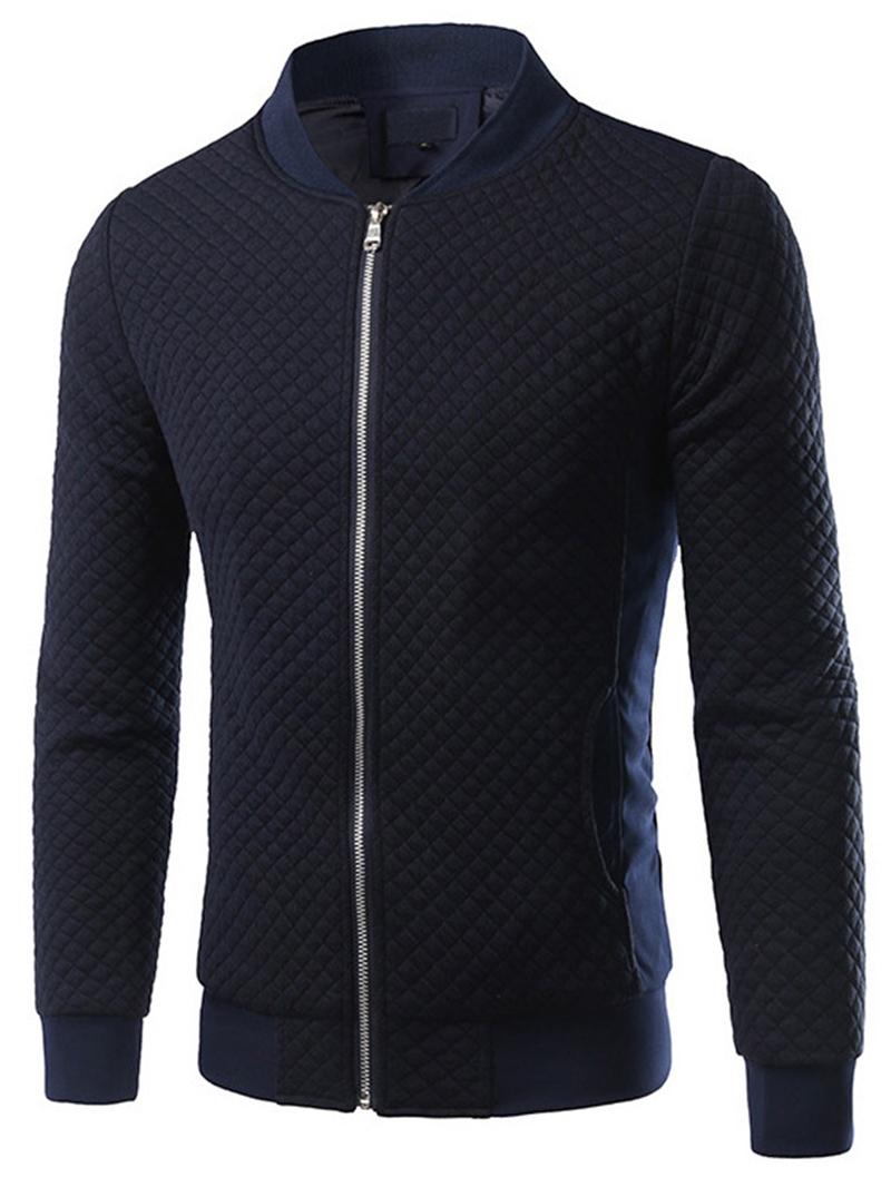 Ericdress Patchwork Zip Vogue Slim Men's Jacket