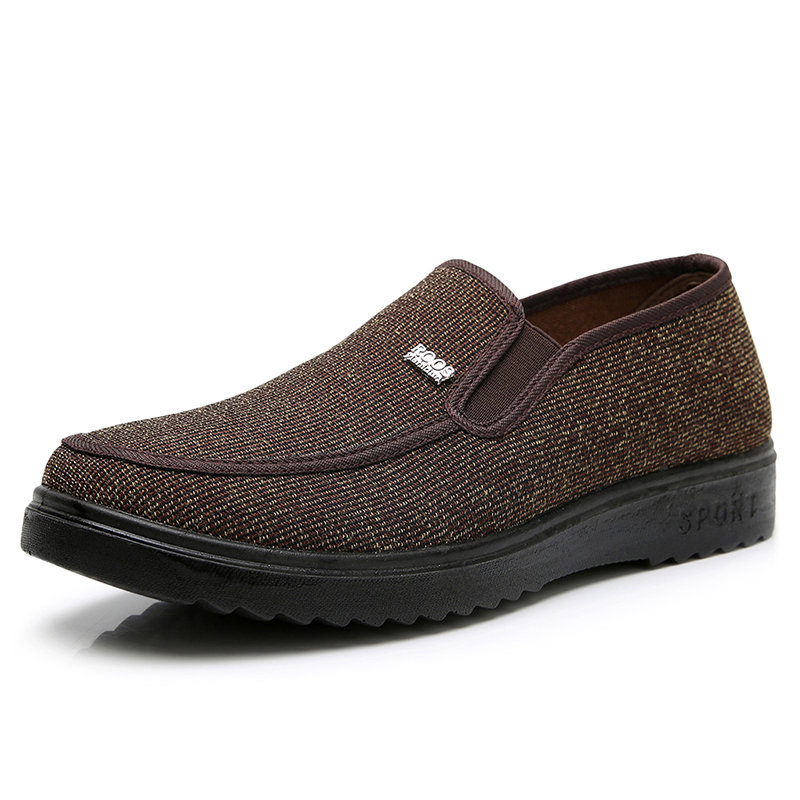 Men Old Peking Cloth Slip On Soft Casual Shoes