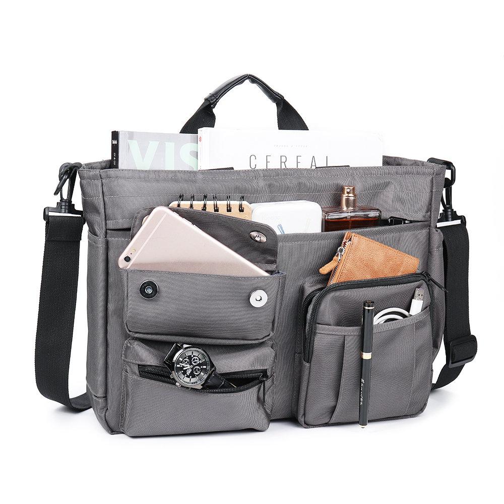 Men Nylon Multi-pocket Handbag For 14 Inch Computer Business Crossbody Bag