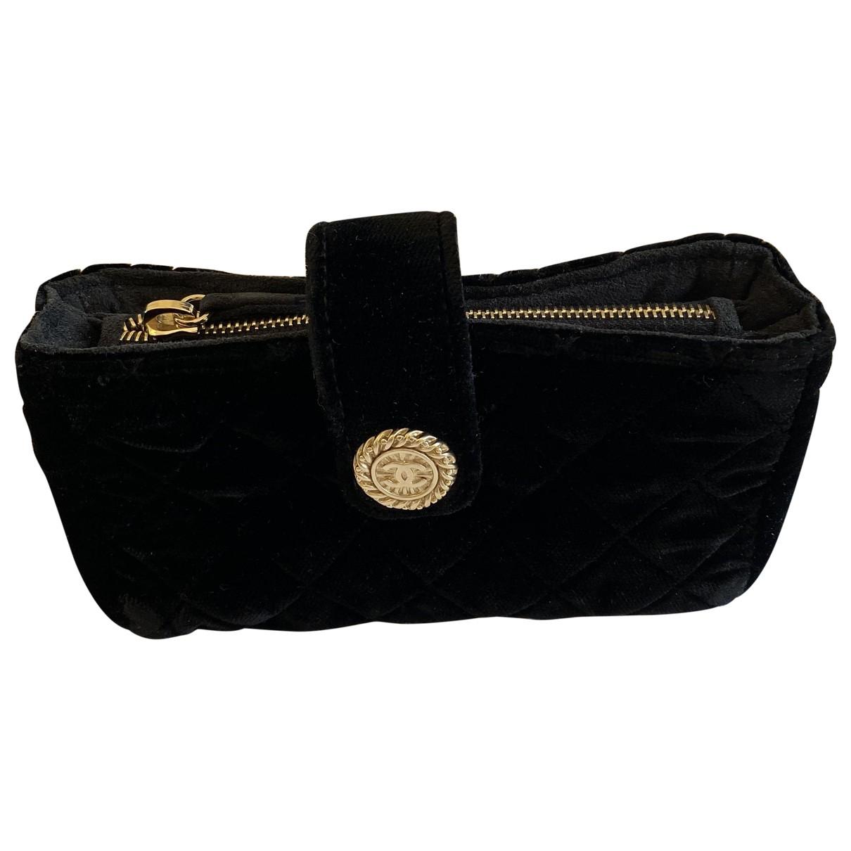 Chanel - Petite maroquinerie   pour femme en velours - noir
