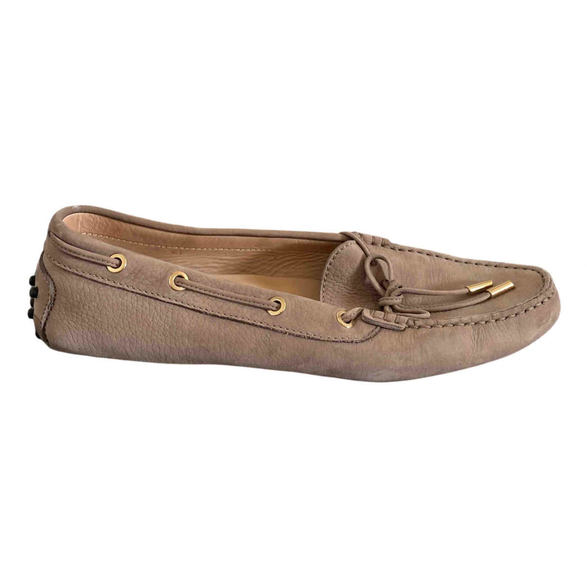 Tod's Gommino Brown Suede Flats for Women 41 EU