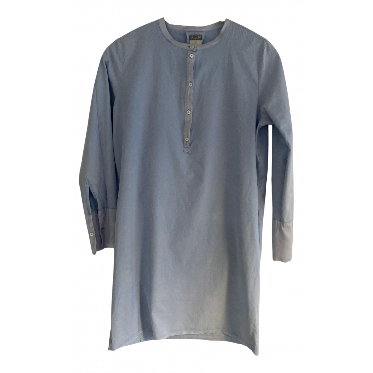 Kristensen Du Nord - Robe   pour femme en coton - bleu