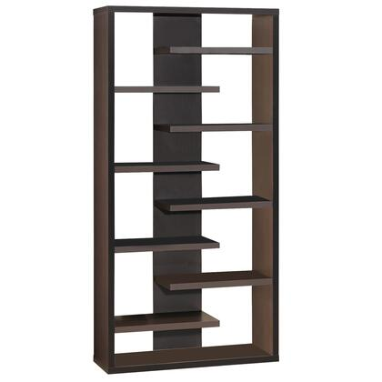 BM156234 Expressive Wooden Bookcase with Center Back Panel