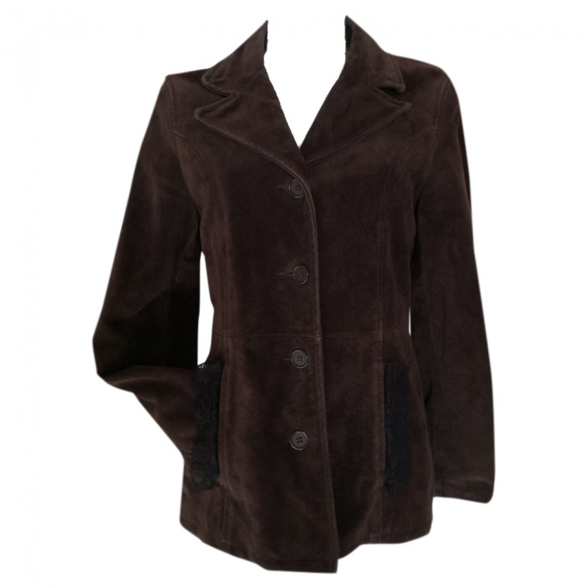 Non Signé / Unsigned \N Brown Suede Leather jacket for Women S International