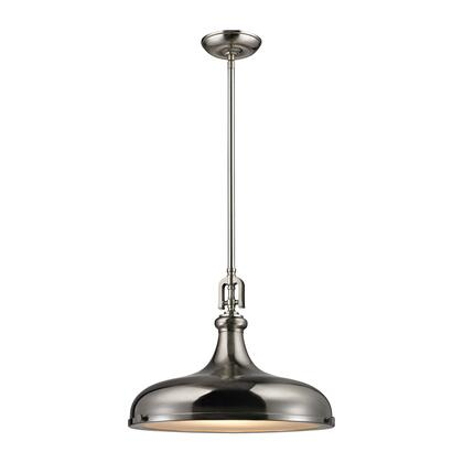 57052/1 Rutherford 1 Light Pendant in Brushed