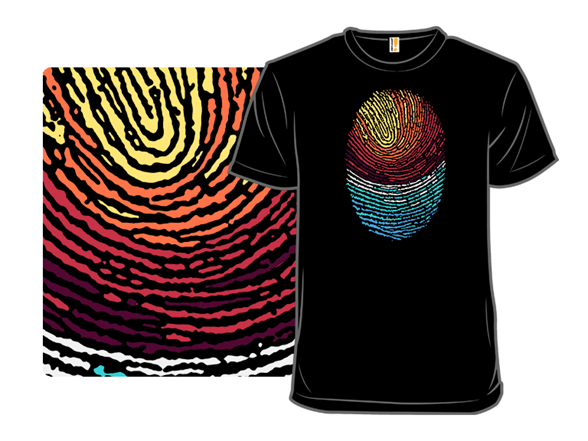Fingerprint Sunset T Shirt