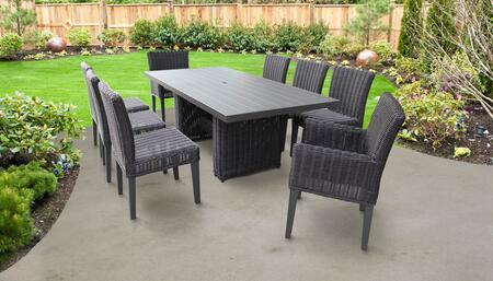 Venice Collection VENICE-DTREC-KIT-6ADC2DC Patio Dining Set With 1 Table  6 Side Chairs  2 Arm Chairs - No