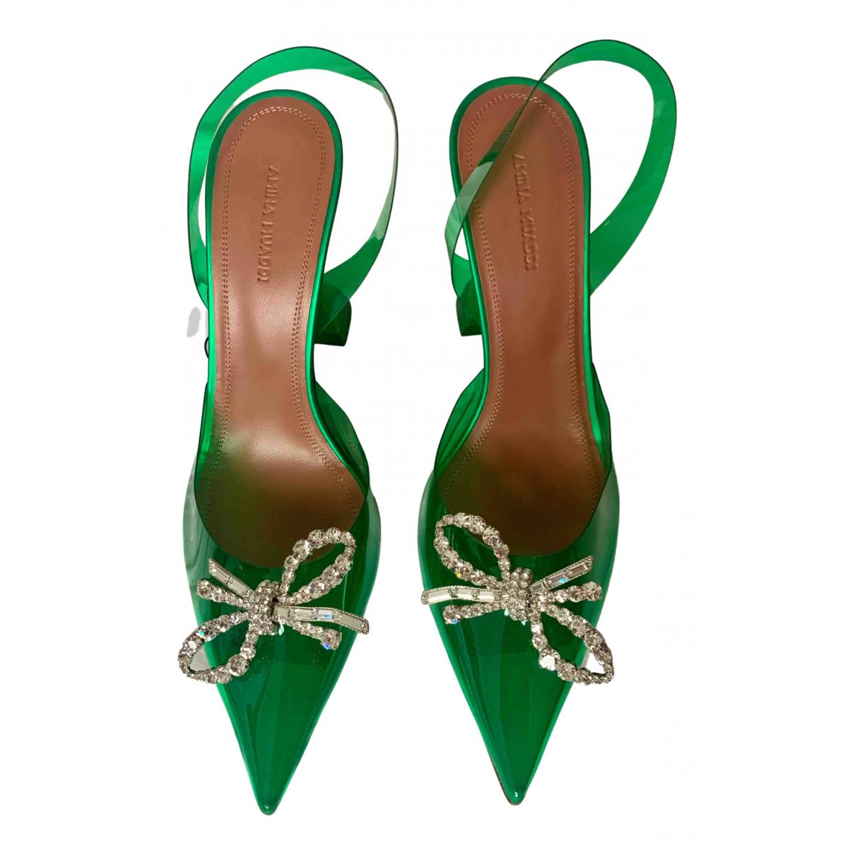 Amina Muaddi \N Sandalen in  Gruen Kunststoff