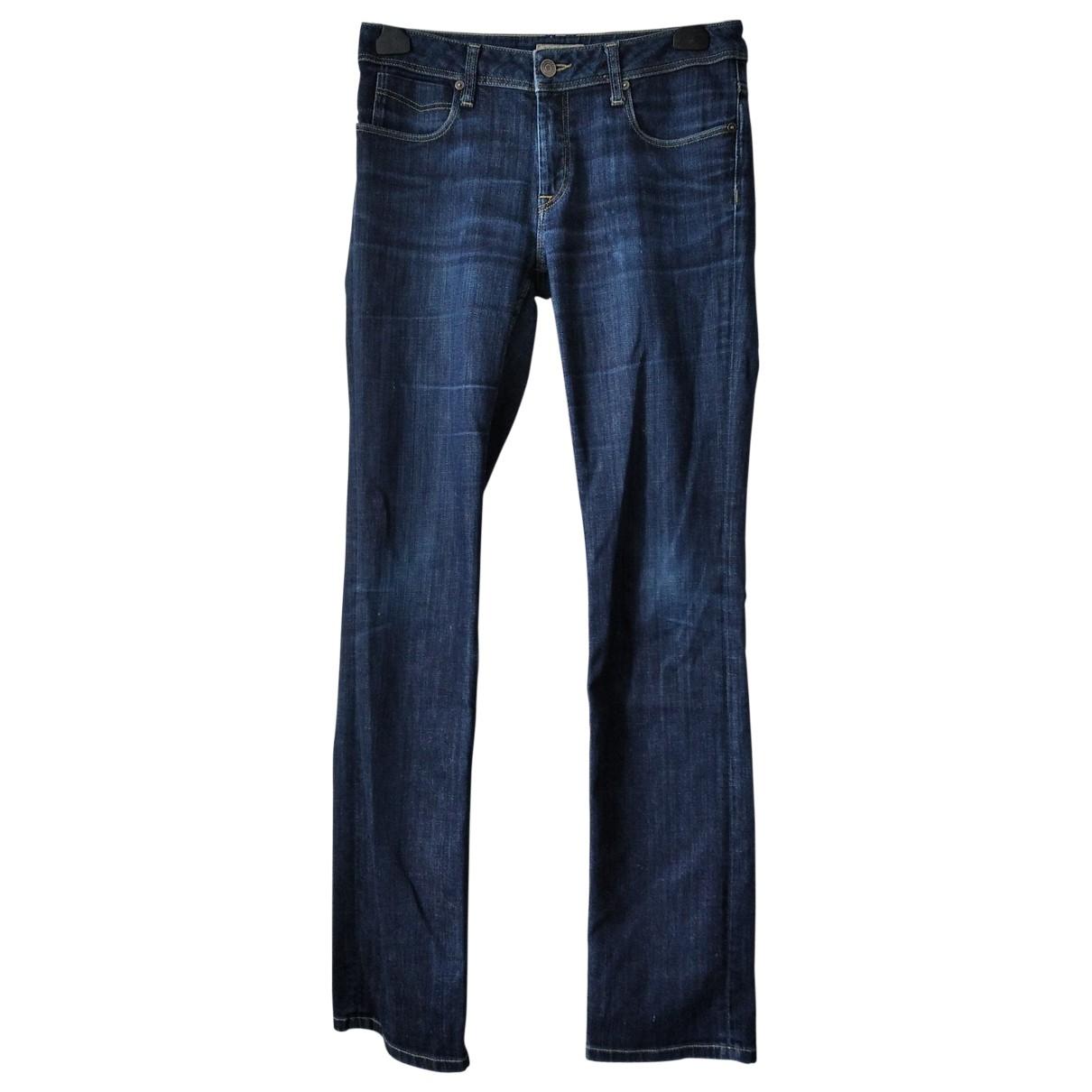 Burberry - Jean   pour femme en coton - marine