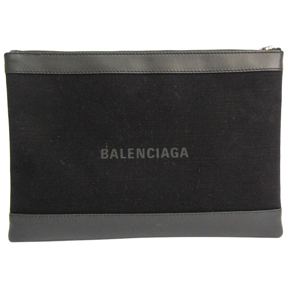 Balenciaga \N Clutch in  Schwarz Leinen