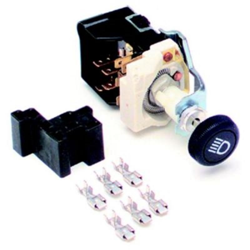 Painless Wiring 80152 Headlight Switch/Black Knob/GM Style w/Dimmer/Dome Light
