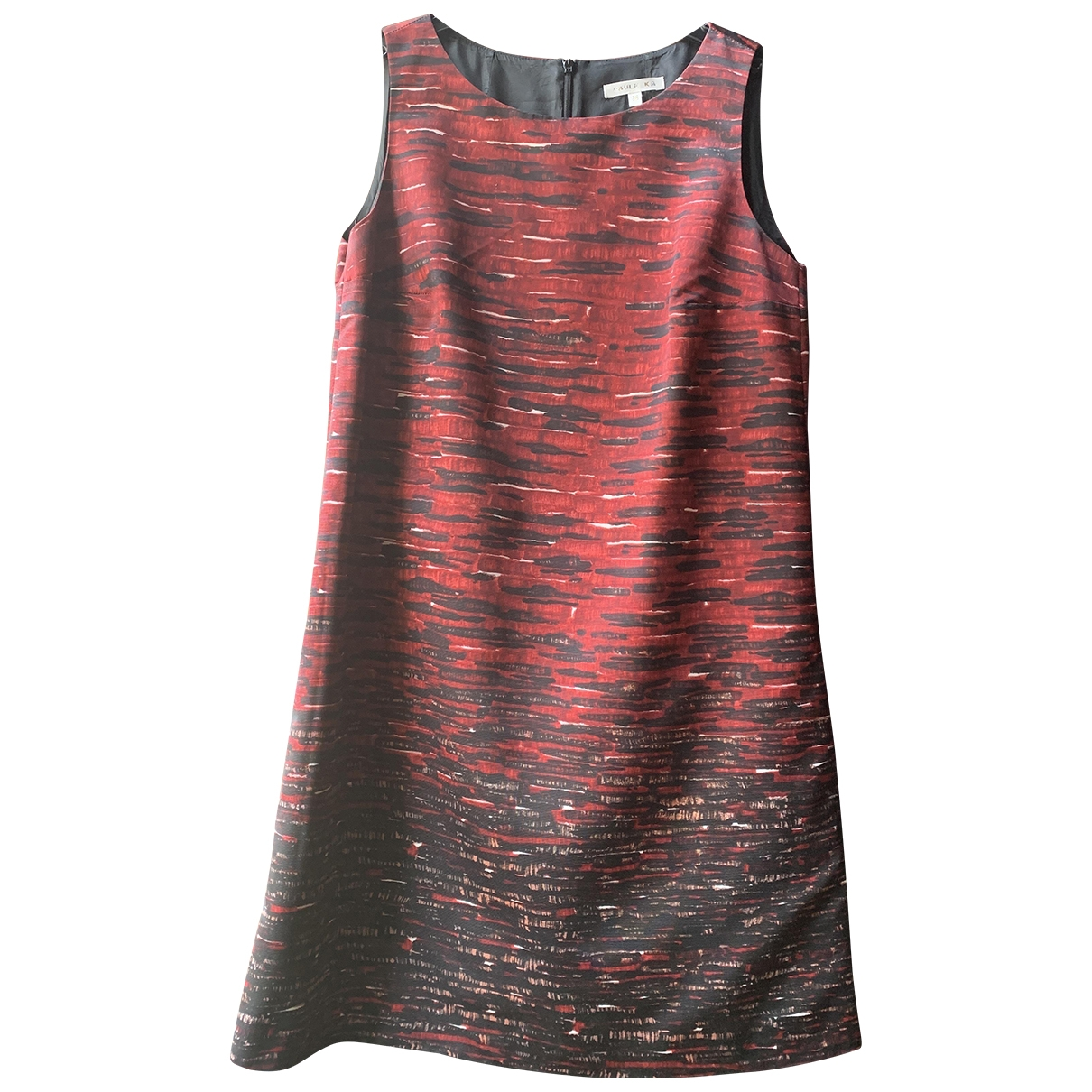 Paule Ka \N Kleid in  Bordeauxrot Polyester