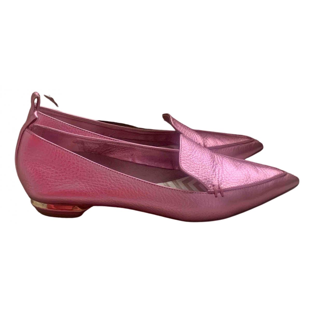 Nicholas Kirkwood \N Ballerinas in  Rosa Leder