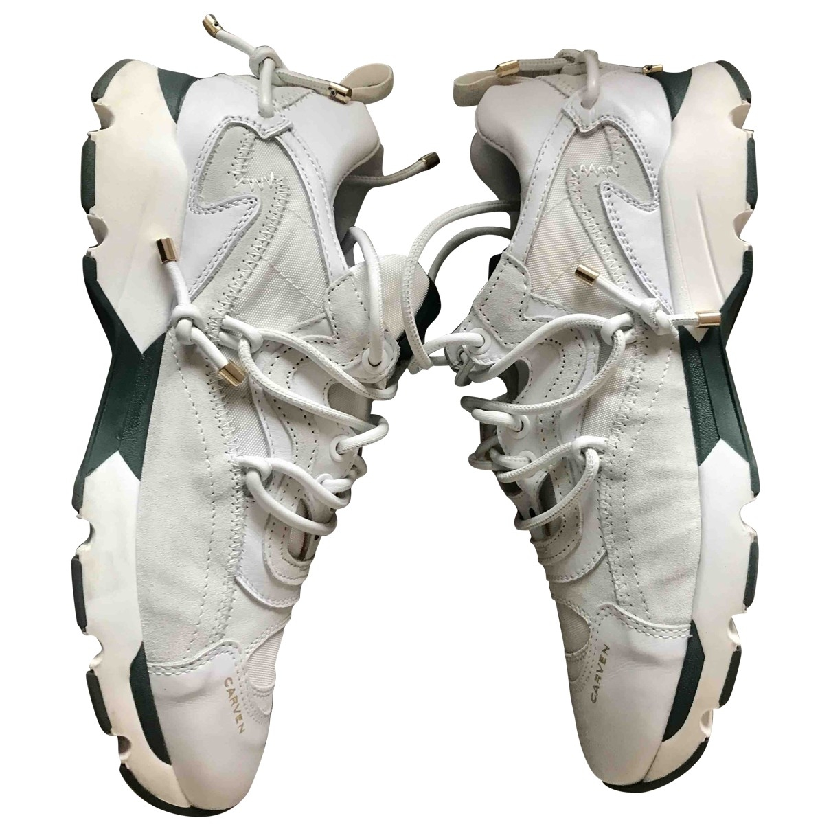Carven \N White Leather Trainers for Women 41 EU