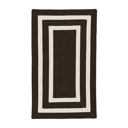 Colonial Mills Monica Double Border Braided Rectangular Reversible Indoor/Outdoor Rugs, One Size , Brown