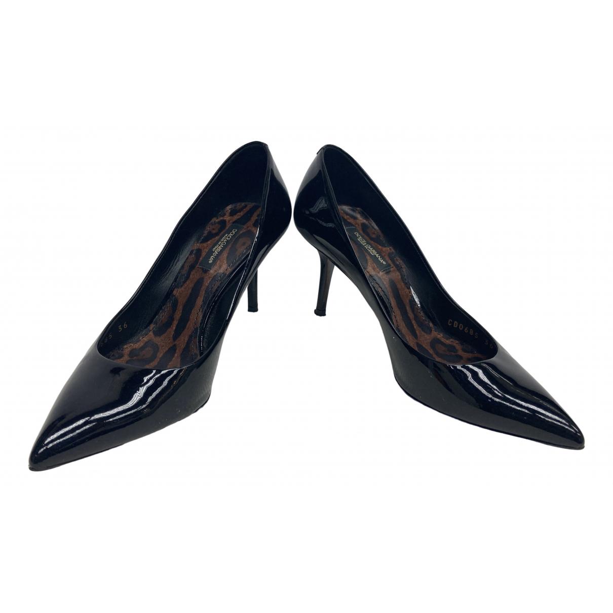 Dolce & Gabbana \N Pumps in  Schwarz Lackleder