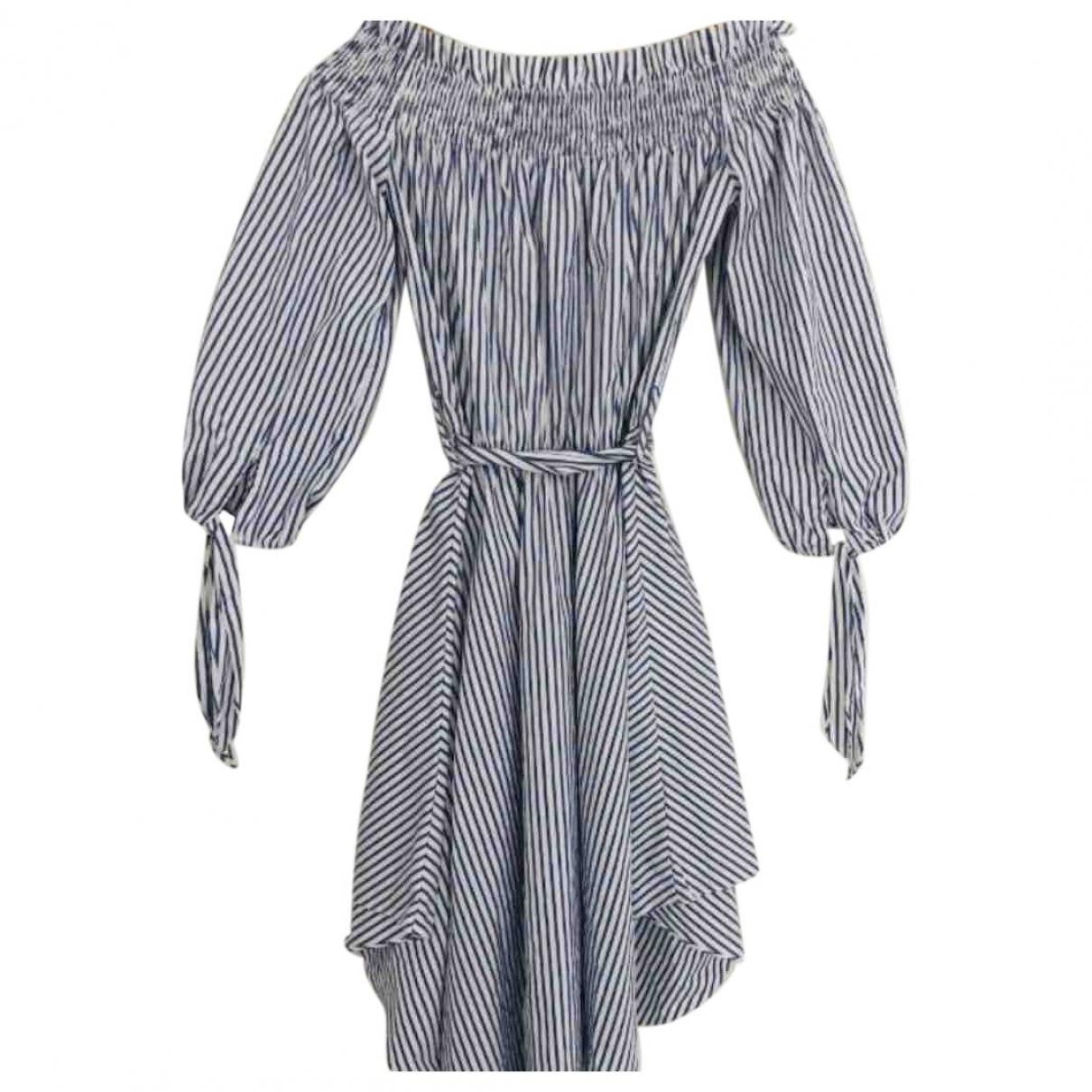 Caroline Constas \N Blue Cotton dress for Women XS International