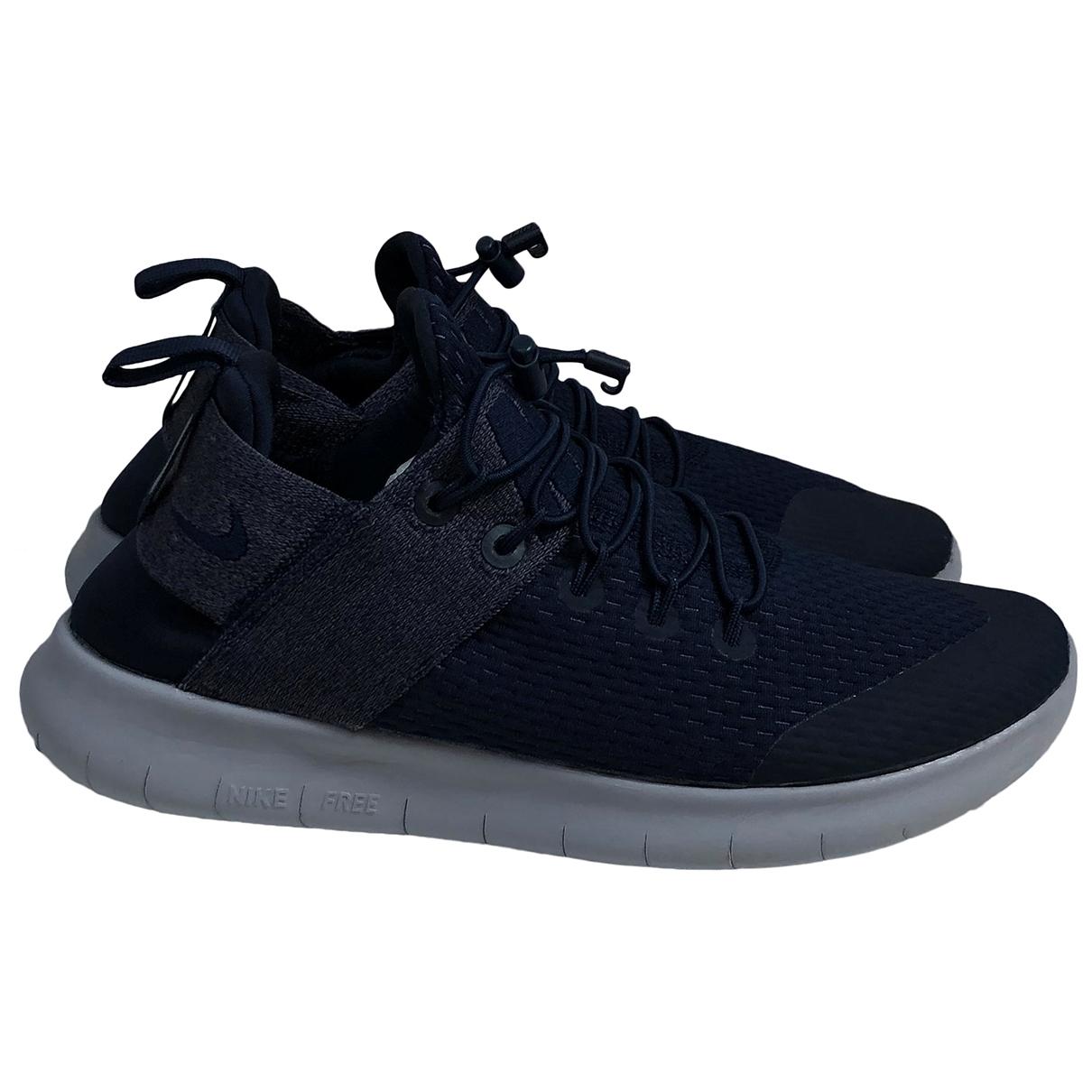 Nike Free Run Navy Cloth Trainers for Women 39 EU