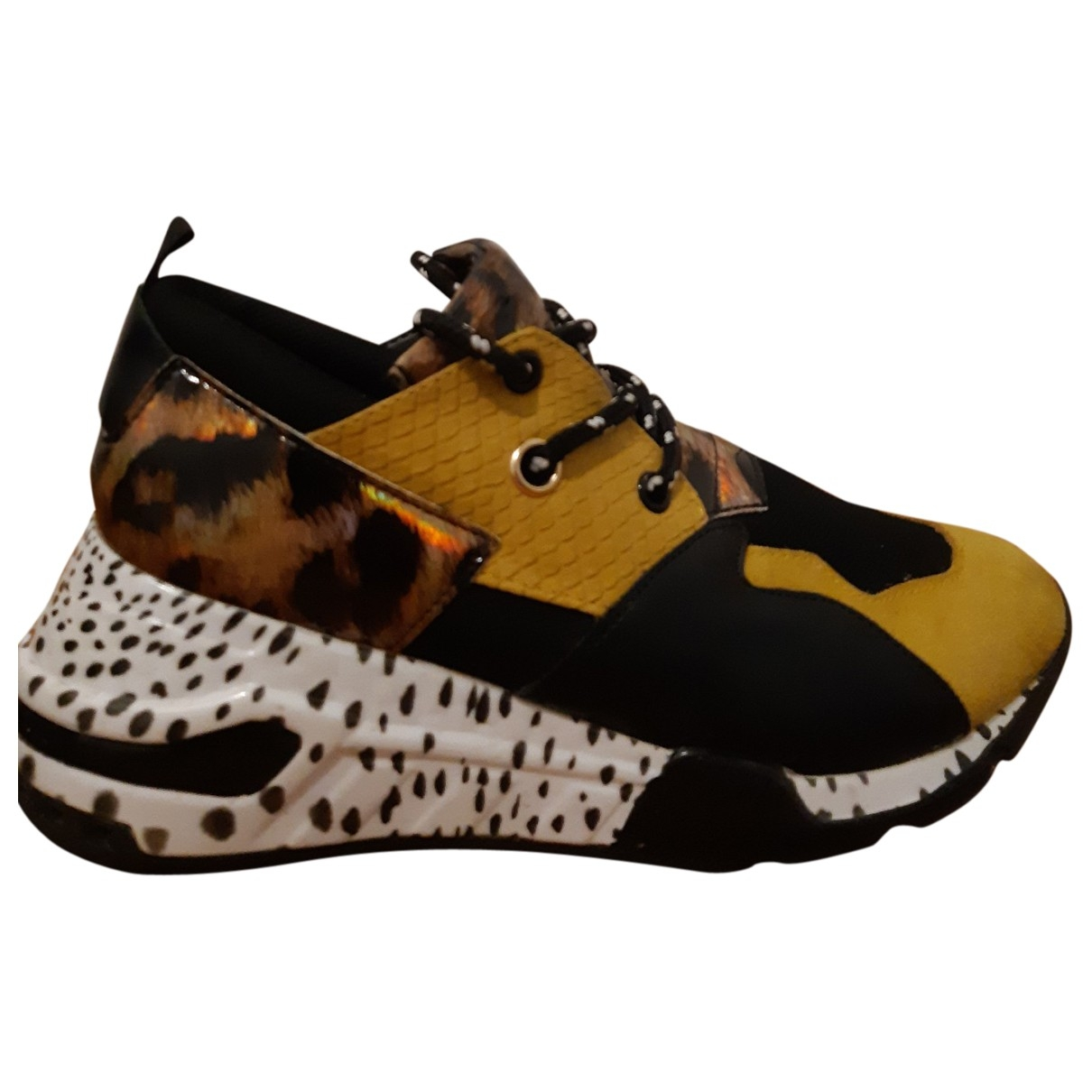 Steve Madden \N Yellow Leather Trainers for Women 38 EU