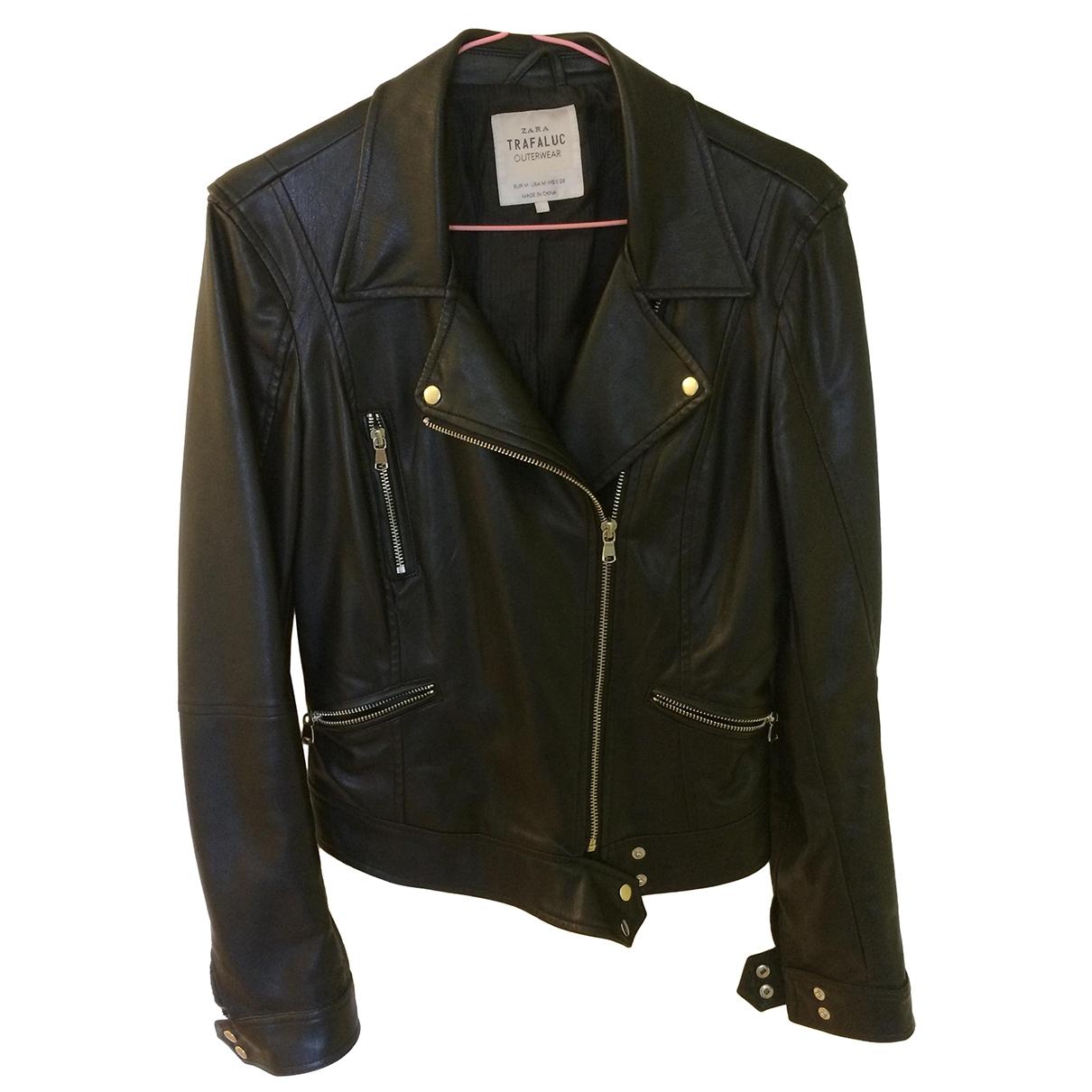 Zara \N Black Leather jacket for Women M International