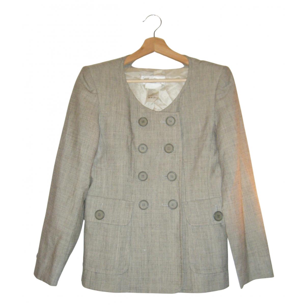 Yves Saint Laurent - Veste   pour femme en laine - gris