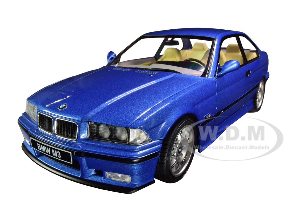 1990 BMW E30 M3 Blue Estoril Metallic 1/18 Diecast Model Car by Solido