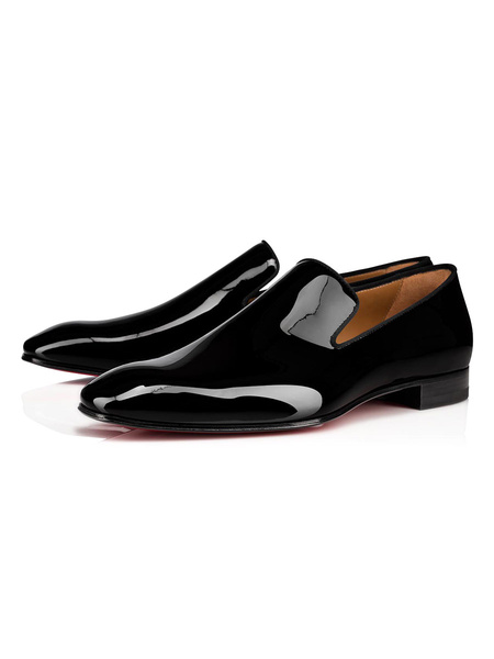 Milanoo Zapatos de vestir para hombre Zapatos de fiesta de piel de vaca sin cordones con punta redonda Zapatos de fiesta