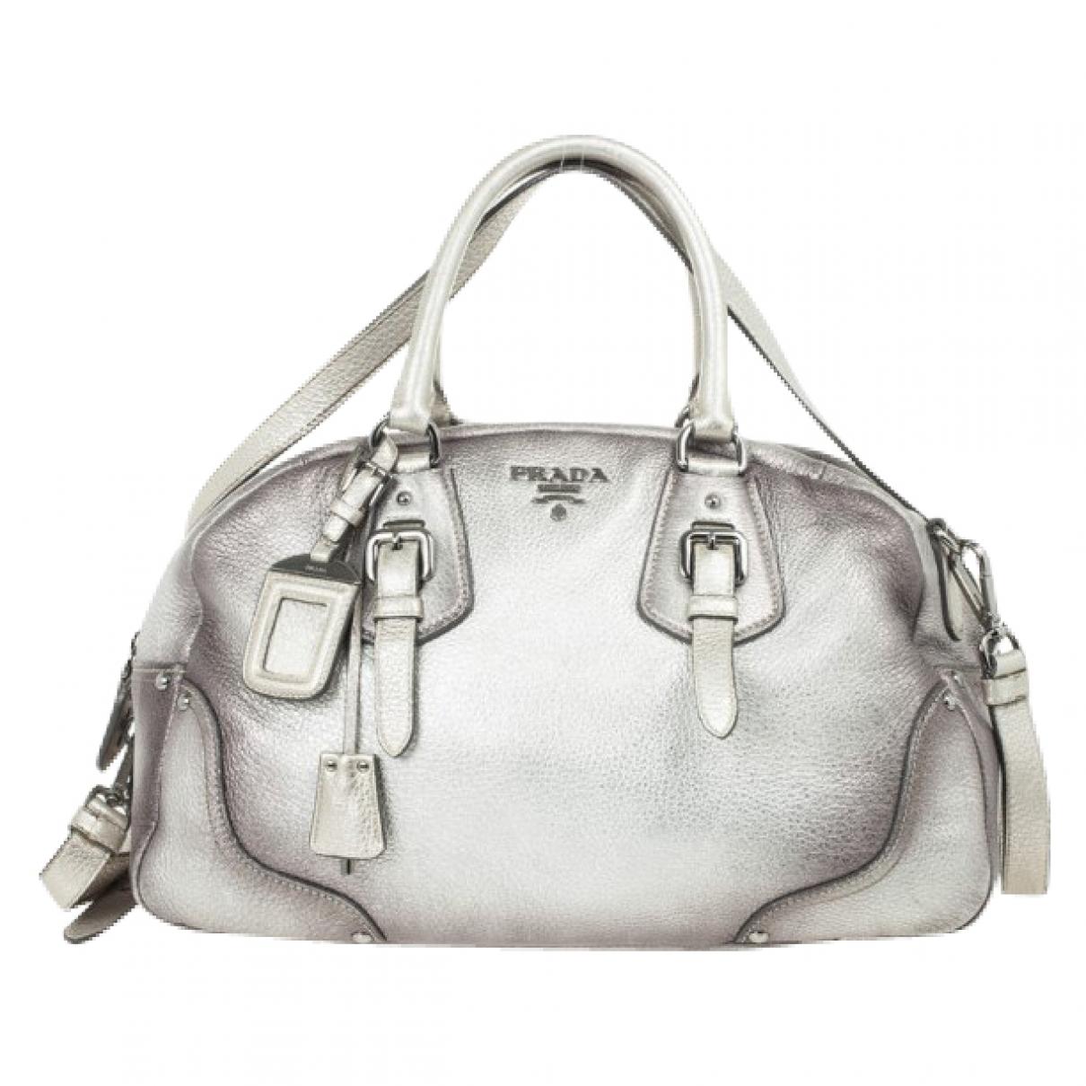 Prada \N Silver Leather handbag for Women \N