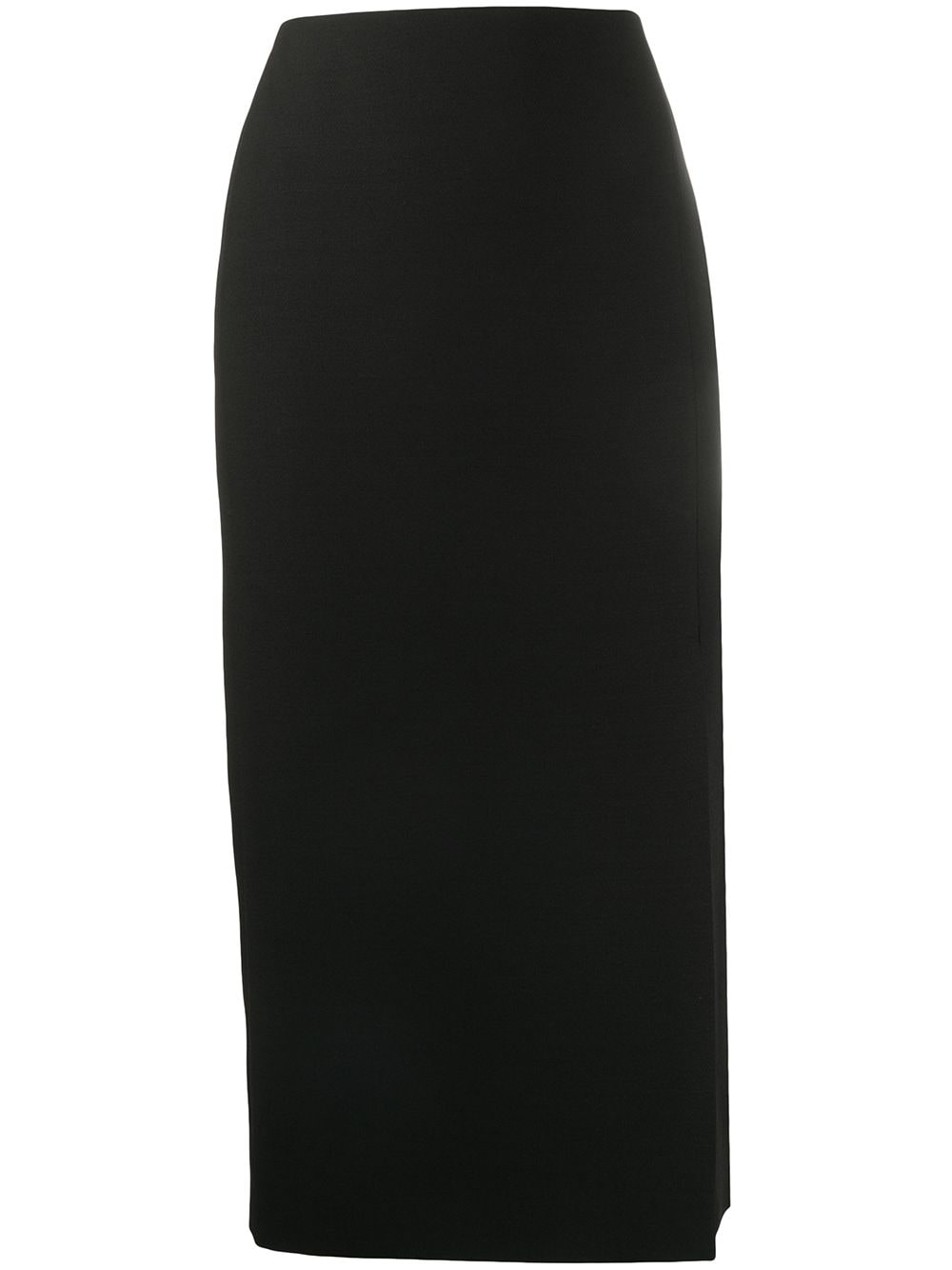 Wool-silk Blend Slit-detail Pencil Skirt