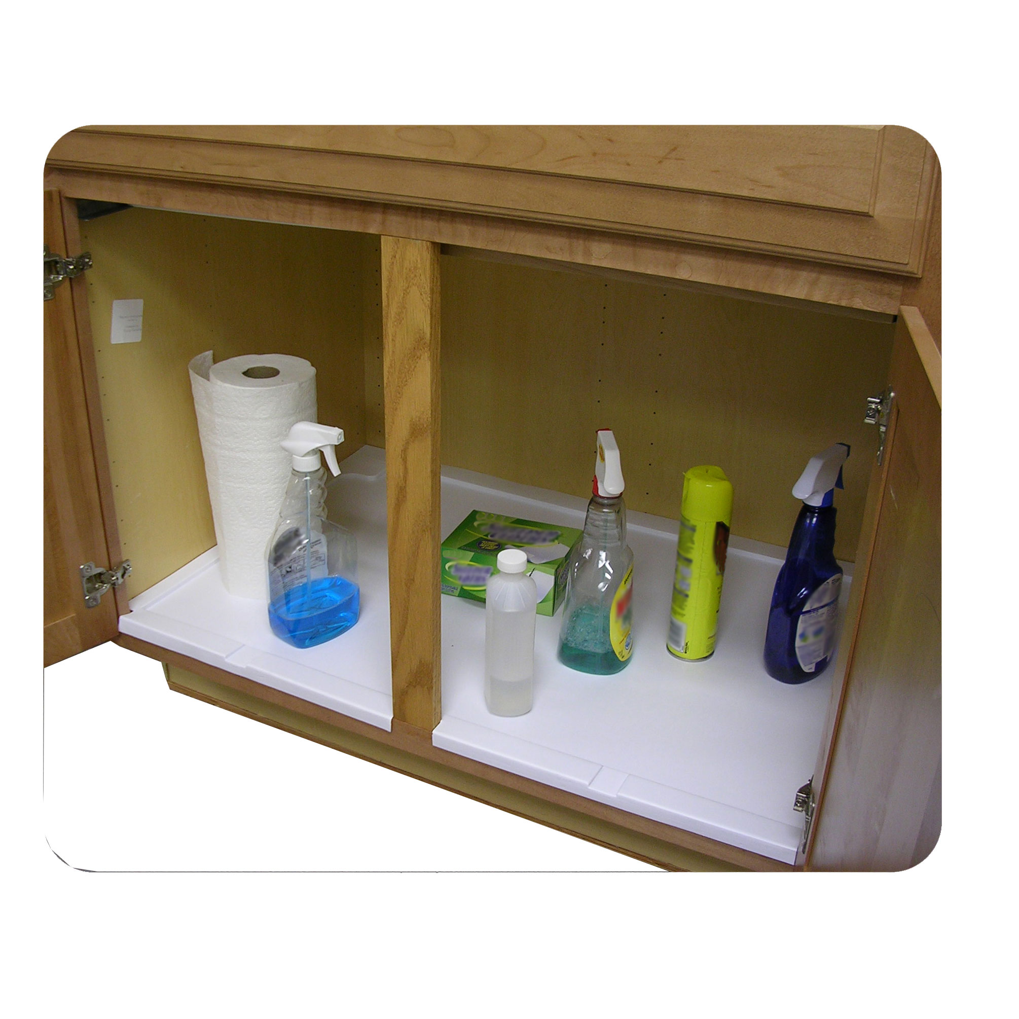 Trimmable Under Sink Tray for 36 in. Base Cabinet
