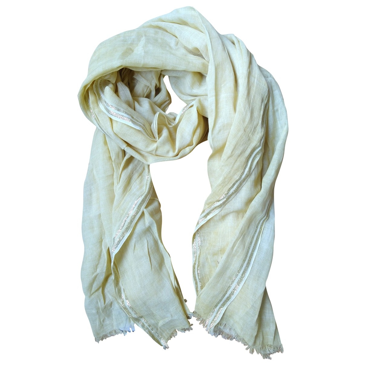 Ikks \N Yellow Cotton scarf for Women \N