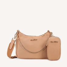 Umhaengetasche mit Kette und Brieftasche