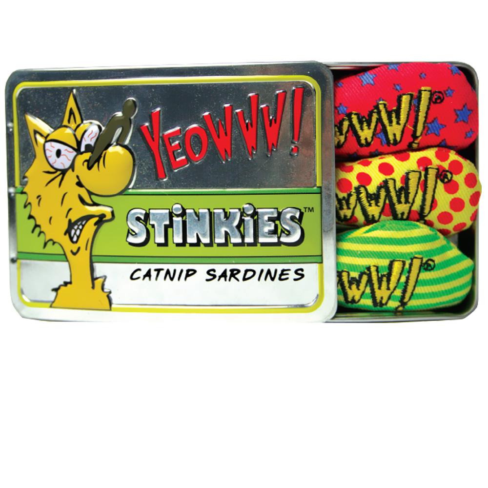Yeowww! Tin of Stinkies Catnip Sardines (3-Pack)