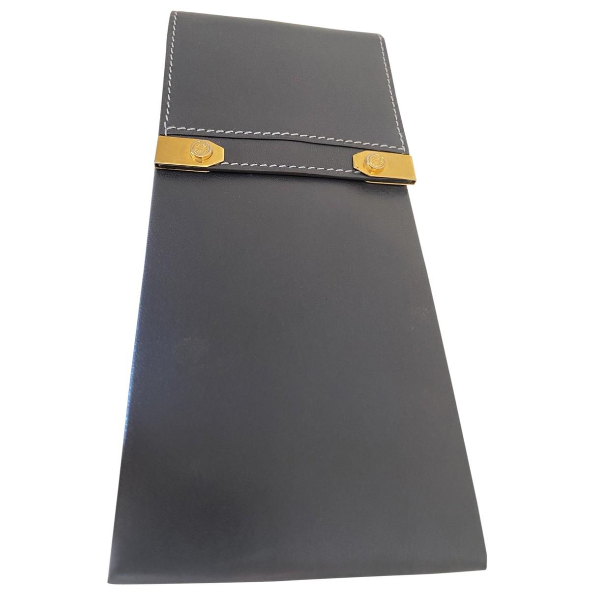 Loewe - Petite maroquinerie   pour homme en cuir - gris