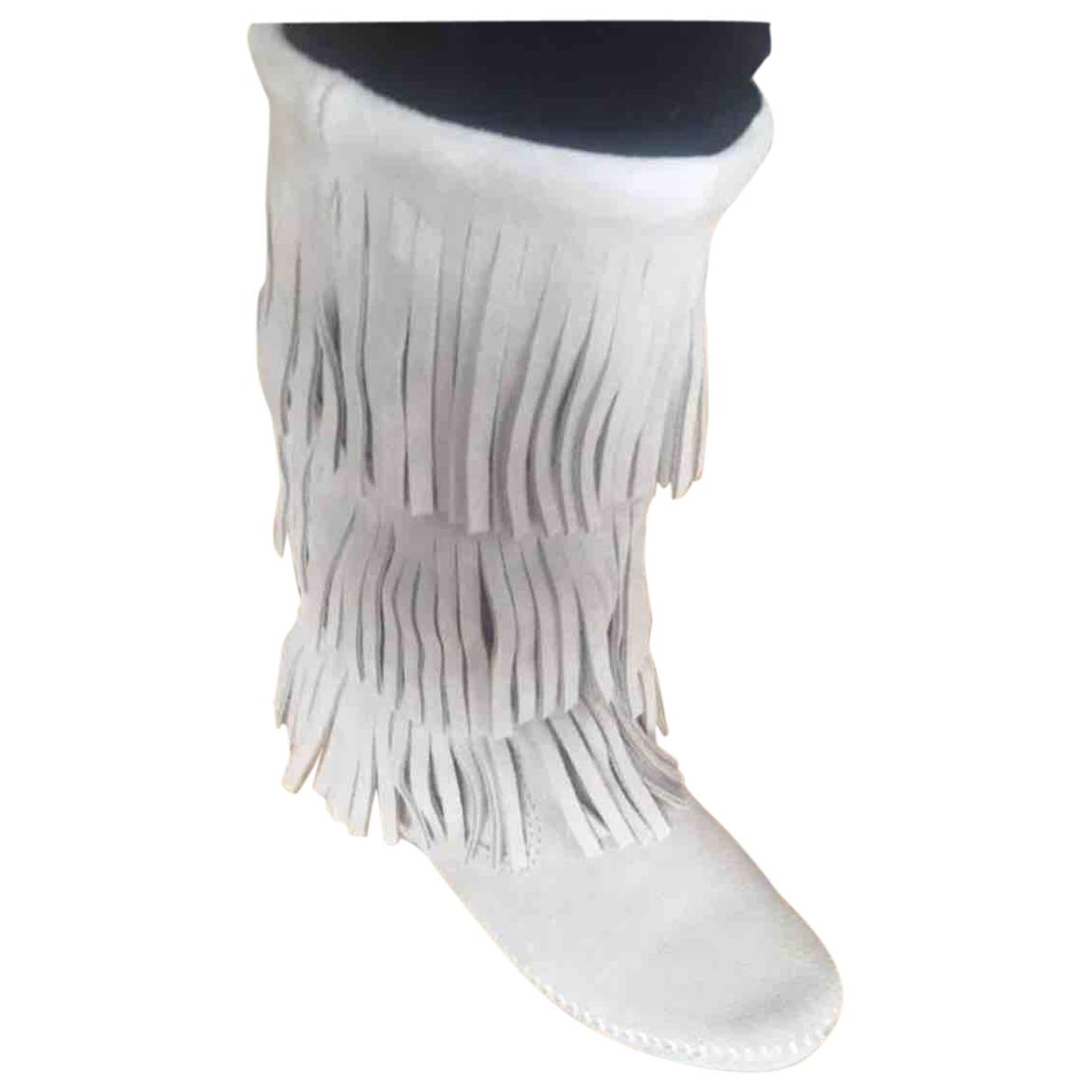 Minnetonka \N Stiefel in  Beige Leder